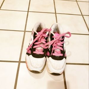 White And Pink Champion Shoes